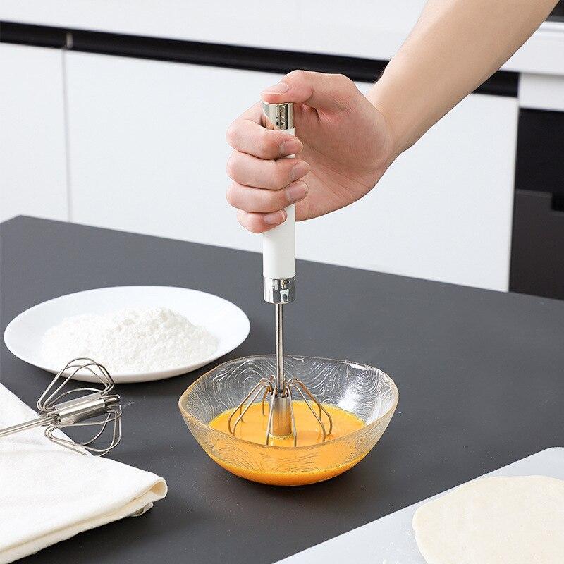 De acero inoxidable de la cocina batidora hogar crema semiautomática batidor de...