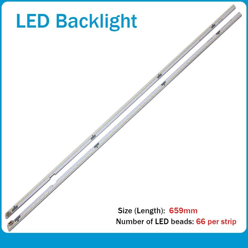LED شريط إضاءة خلفي 66 مصباح ل LG 60
