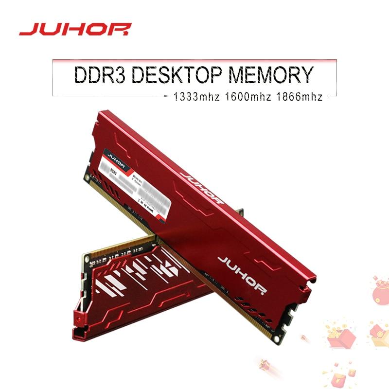 JUHOR memoria ram ddr3 8GB 4GB 1866MHz 1600Mhz Desktop Memory rams with heat Sink udimm 1333mhz New dimm stand by AMD/intel