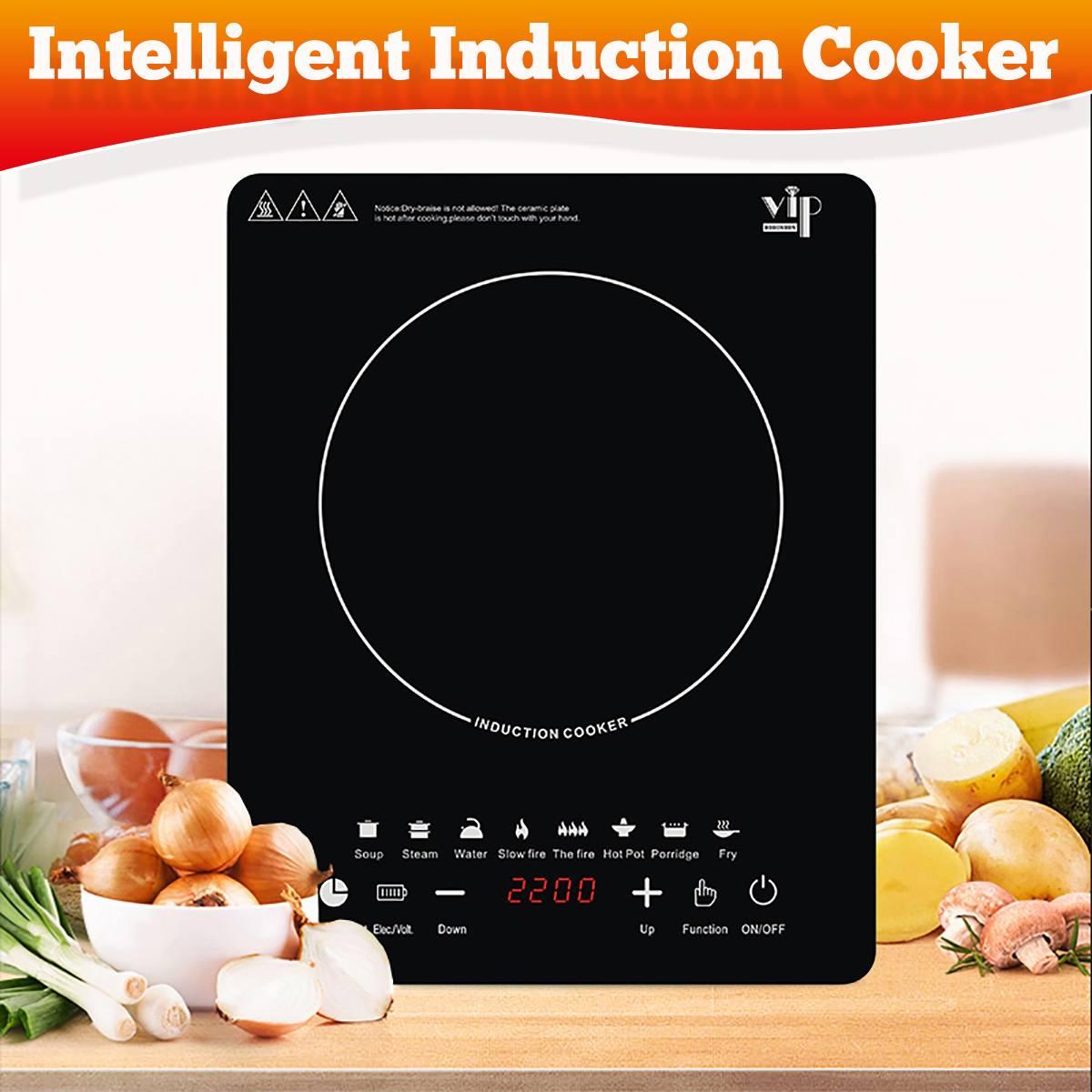 2200 واط عالية الطاقة التعريفي المواقد الذكية أجهزة مطبخ موقد فرن فرن فرن فرن التحكم الدقيق كوكتوب لوحة إناء/ قدر