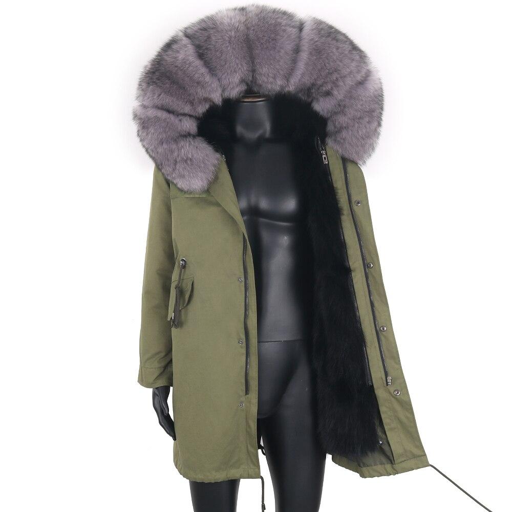 Мужская парка с мехом енота на капюшоне, черная Водонепроницаемая длинная теплая куртка с подкладкой из натурального Лисьего меха, зима 2021
