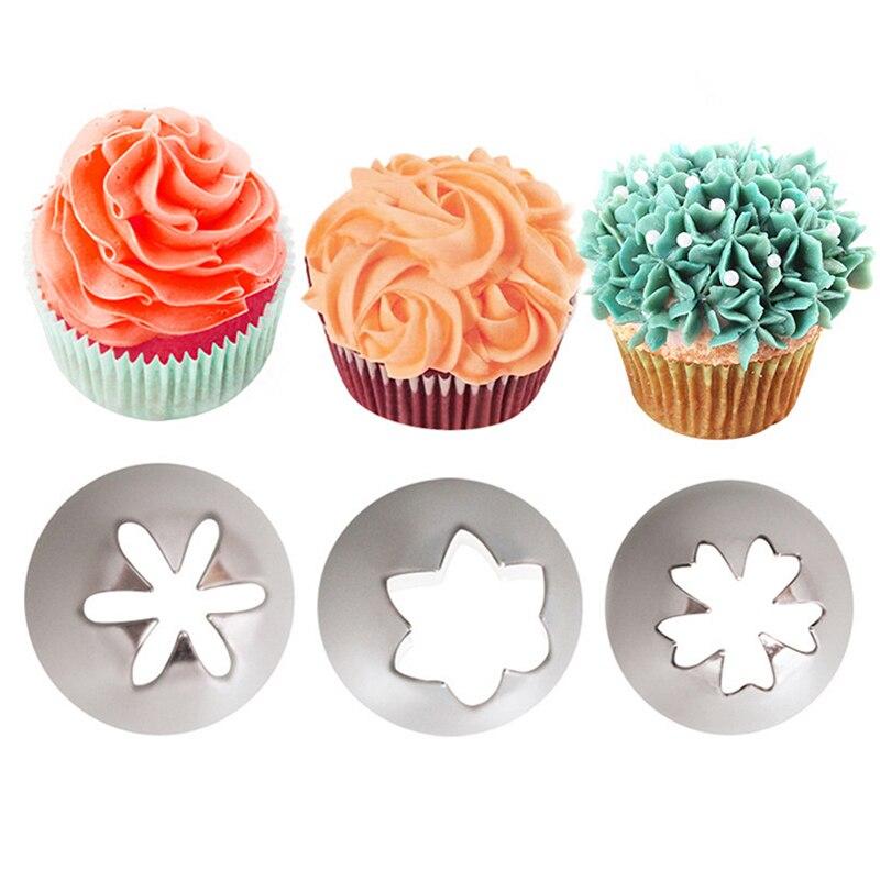 Boquilla de acero inoxidable para glaseado de tartas y pasteles, boquilla para glaseado, conjunto de boquillas para hornear y Fondant, herramienta de decoración de magdalenas