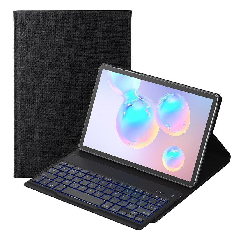 """Funda de tableta para Samsung Galaxy Tab S6 Lite, teclado inalámbrico con Bluetooth y ratón para Tablet de 10,5 """"y 10,6"""""""