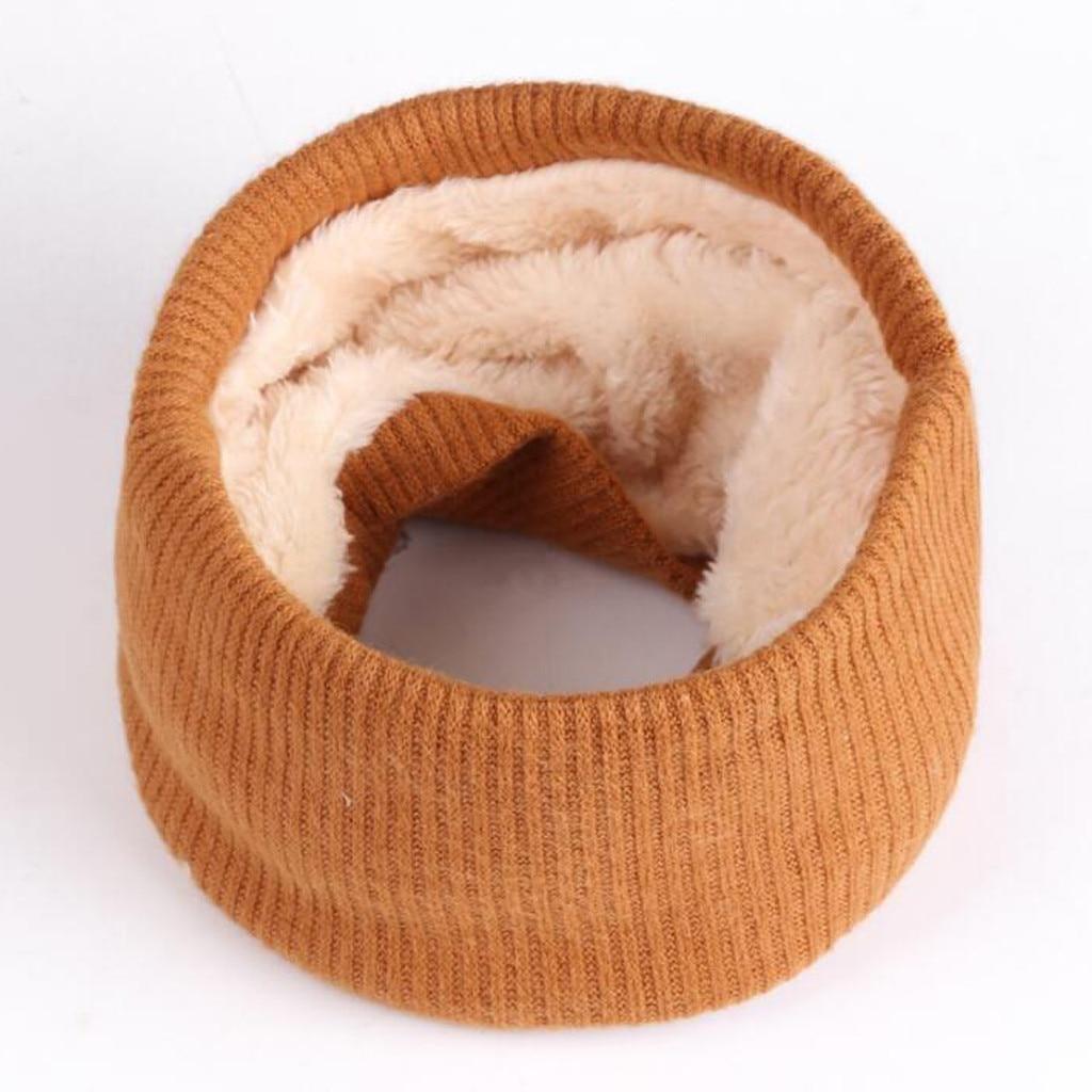 Écharpe enfants solide enfants coupe-vent Plus cachemire écharpe garçons filles tricoté col cou hiver chaud écharpes