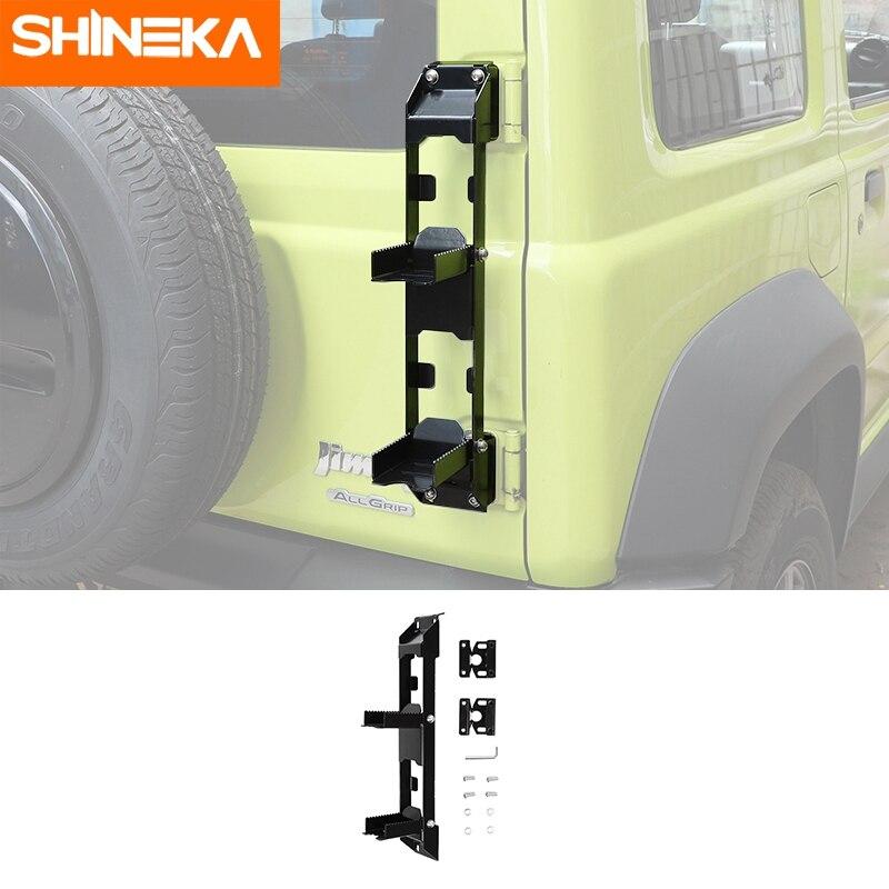 بدواسة تسلق القدم ومفصلة من SHINEKA لسيارة Suzuki Jimny JB64 2019-2021 بدواسة خلفية قابلة للطي ملحقات سلم بدواسة