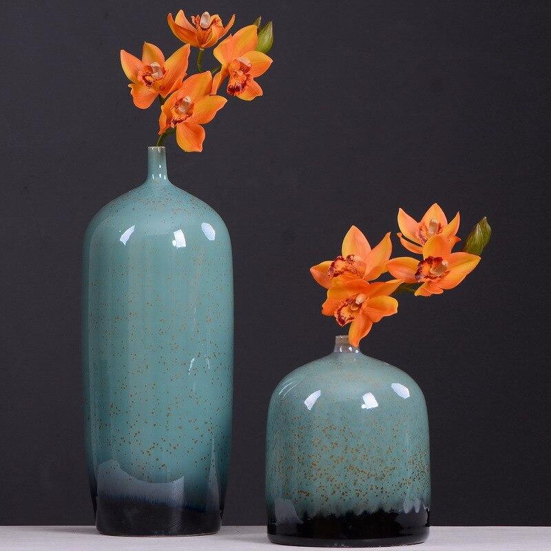 6 pces simulação oriente asiático orquídea atacado sala de estar mesa chá decoração flores artificiais de alta qualidade festa ornamento
