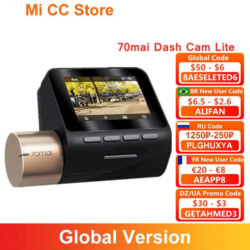 70mai داش كام لايت 1080P كاميرا سيارة مسجل 24H شاشة للمساعدة في ركن السيارة بسهولة جهاز تسجيل فيديو رقمي للسيارات 2 ''شاشة LCD 130FOV للرؤية الليلية 70 ماي ...