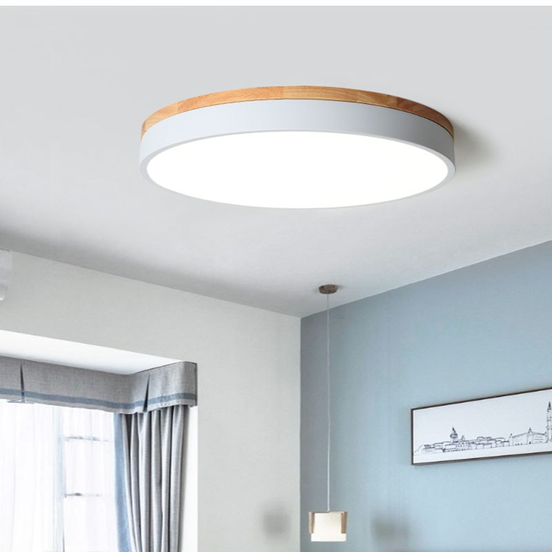 New Modern LED Ceiling Light Ultra-Thin Living Room Lamp Bedroom Panel Surface Mount Remote Control