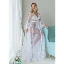 Imcute 2020 Sexy femmes Lingerie déshabillé en dentelle nuisette voir à travers dames fleur longue robe de nuit chemises de nuit