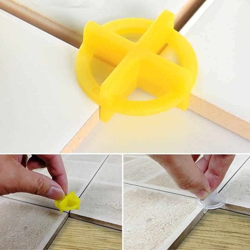 100pcs/lot 1.5mm 2mm 3mm Reusable Tile Cross Wedge for Flooring Wall Tile Carrelage Leveling System Leveler Construction Tool