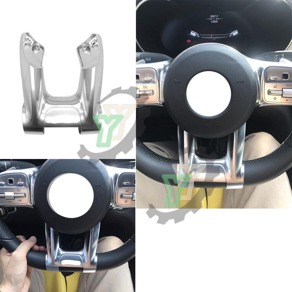 Car Steering Wheel Lower Cover Trim For Mercedes Benz AMG CLA-C118 CLS-W257 A-W177 B-W247 E-W213 C-W205 G-W463 Class 2019-2020