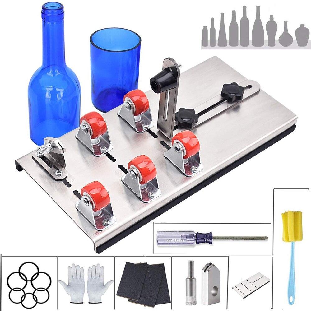 لتقوم بها بنفسك زجاج قاطع زجاجات قابل للتعديل أحجام المعادن الزجاج آلة قطع زجاجة لصنع زجاجات نبيذ الزينة المنزلية قطع