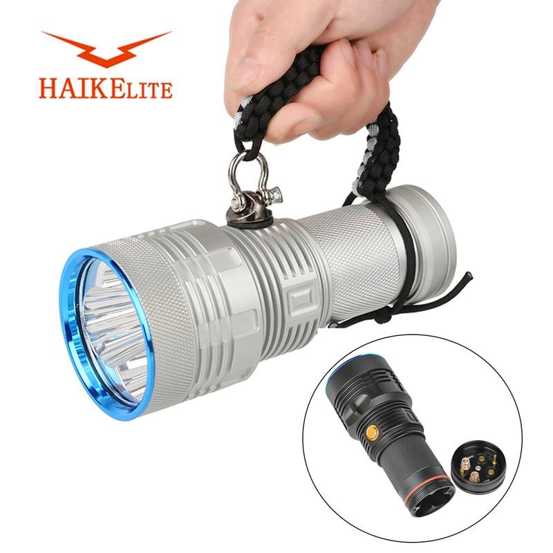 Haikelite MT09R linterna LED Cree XHP70.2 25.000 lúmenes potente 18650 al aire libre 600 metros de largo alcance Throw Searchlight antorcha