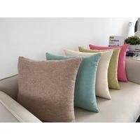 1pc linen sofa cushion cover home decoration sofa bed decor decorative pillowcase pillow cover