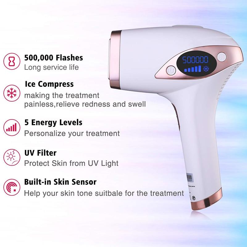 IPL Hair Removal Professional Permanent Laser Epilator For Women Painless Hair Remover Machine Epila