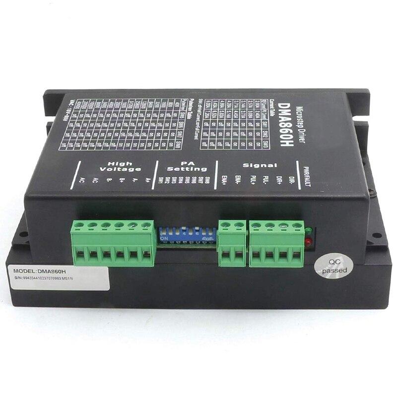 DMA860H خطوة سائق 2 المرحلة DSP Microstep سائق ل Nema 34 Nema 42 AC24-80V DC24-80V تعزيز