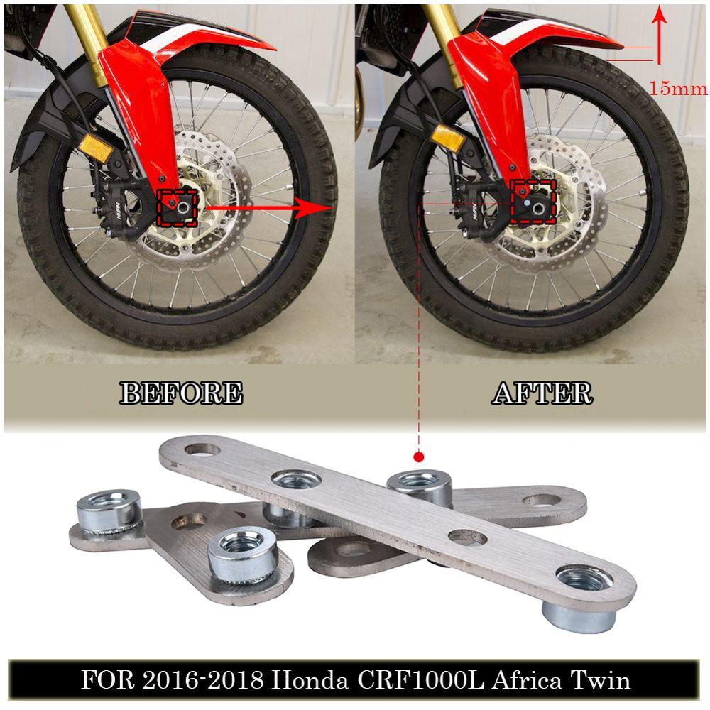 Guardabarros delantero de acero inoxidable, Kit de elevación para Honda CRF1000L Africa...