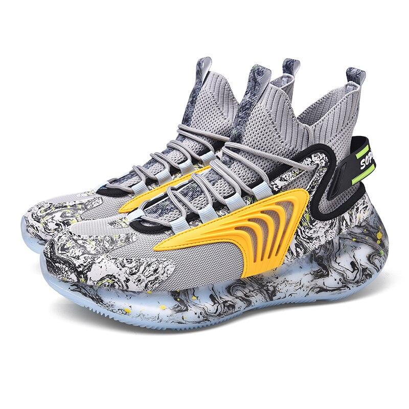 الرجال شخصية الموضة الاتجاه الشارع هونغ كونغ نمط حذاء كرة السلة عادية عالية الجودة تنفس الأحذية الرياضية القديمة