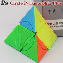 Magiczna kostka łamigłówka fs limCube 2x2x2 koło piramida Plus piramida 4 boczne przestrzenie kostka edukacyjna kreatywna twist mądrość zabawki