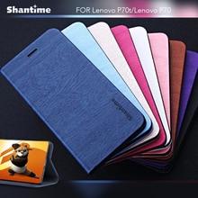 Pu Leer Phone Case Voor Lenovo P70t Flip Case Voor Lenovo S960 Kaartsleuven Business Boek Case Soft Silicone Back cover