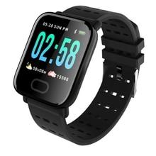 A6 Smart Band Ligent Hartslagmeter Fitness Tracker Smart Armband Waterdicht Polsbandje Horloge