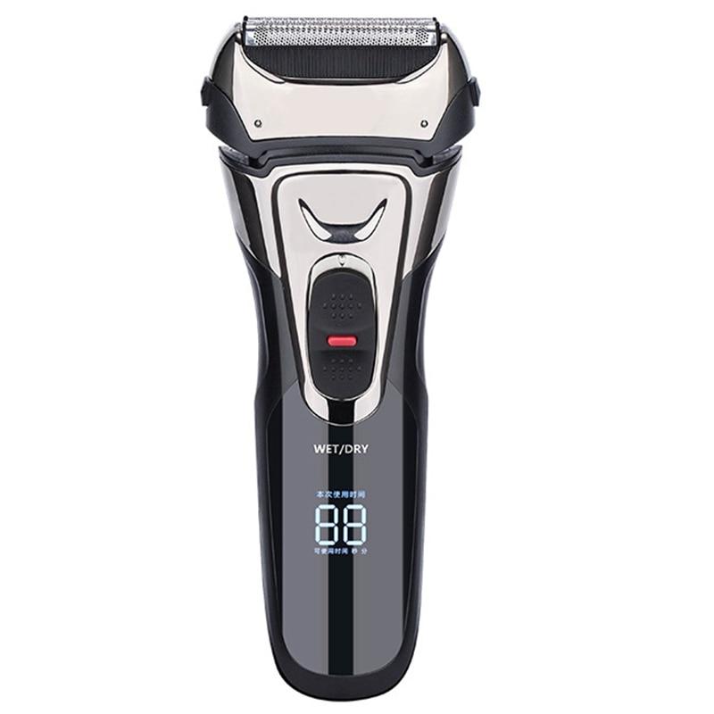 Electric Razor USB Rechargeable Electric Shavers Men Dry Wet Waterproof Men's Foil Shaver Professional Hair Trimmer Cutter enlarge
