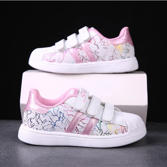 أطفال أحذية رياضية الفتيات أحذية 2020 الخريف موضة جلد الفتيات حذاء مسطح عدم الانزلاق الفتيات احذية الجري الأميرة طالب الأحذية