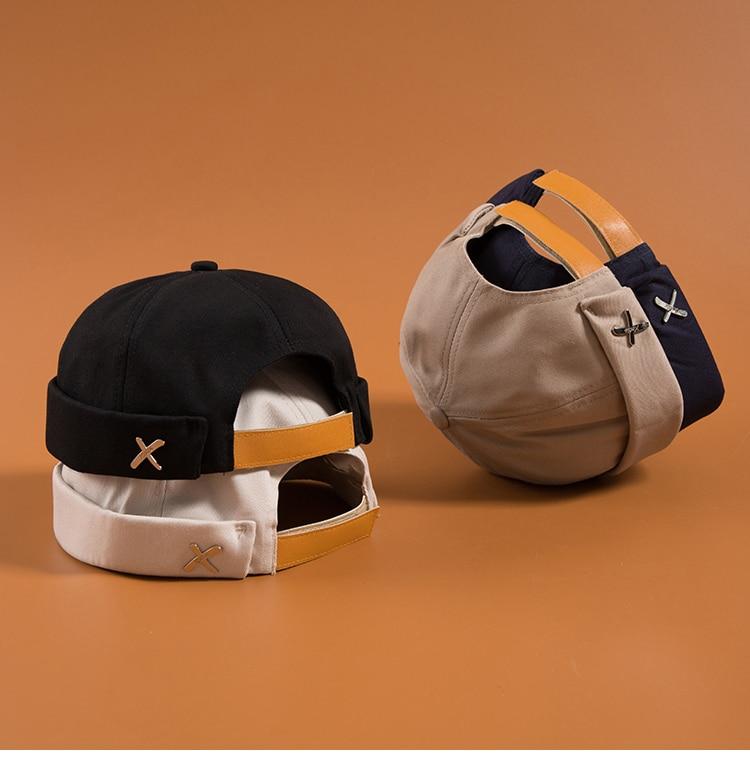 2020 New Fashion Causal Beanies Skullies Caps Hat Adjustable Brimless Hats For Men Women Denim Blue
