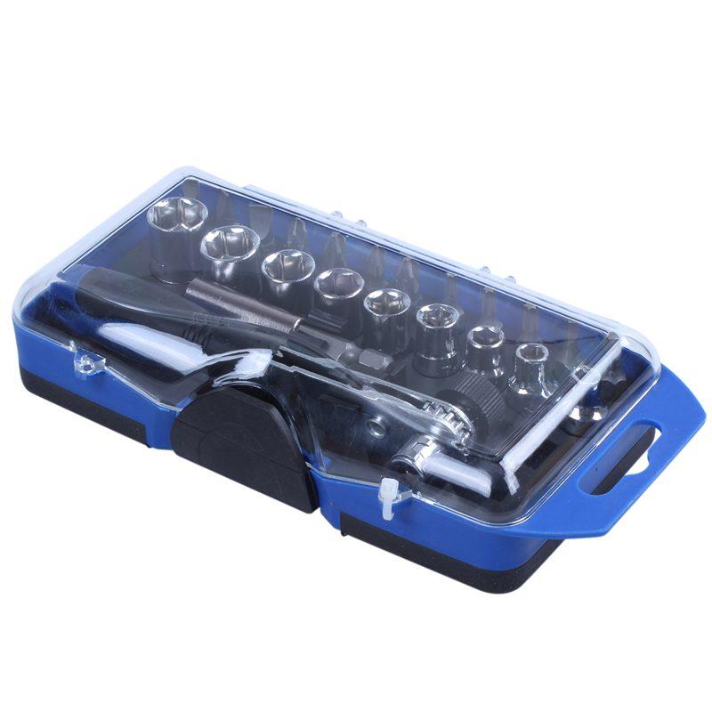 Las mejores puntas de destornillador de trinquete 23 en 1 de precisión, juego de herramientas de reparación de enchufes