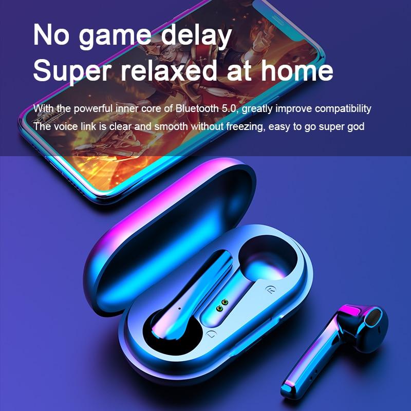 Bluetooth Earphones Wireless Headphones IPX6 Noise Reduction Color Display Headset Waterproof Earbuds for All Smartphone enlarge