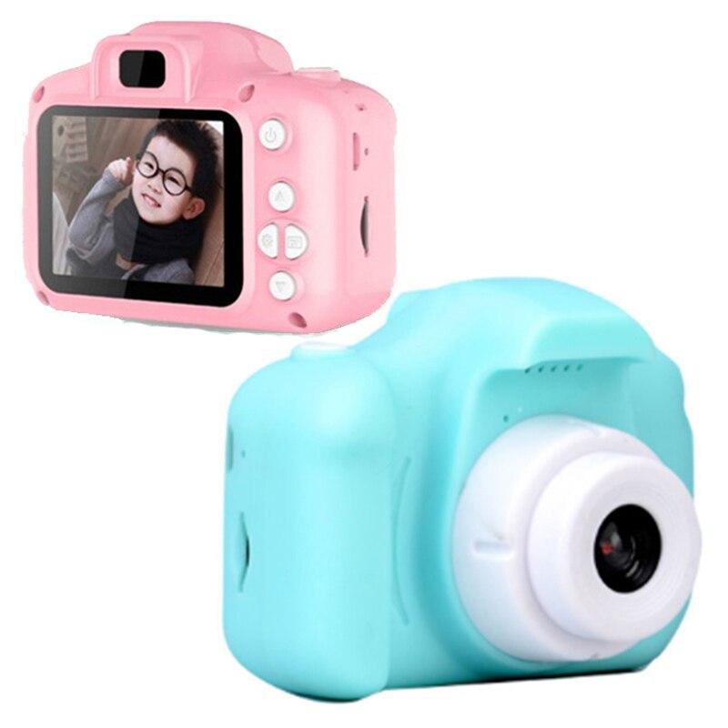 2Inch HD Bildschirm Chargable Digitale Mini Kamera Kinder Cartoon Nette Kamera X2 Spielzeug Outdoor Fotografie Requisiten für Kind Geburtstag geschenk