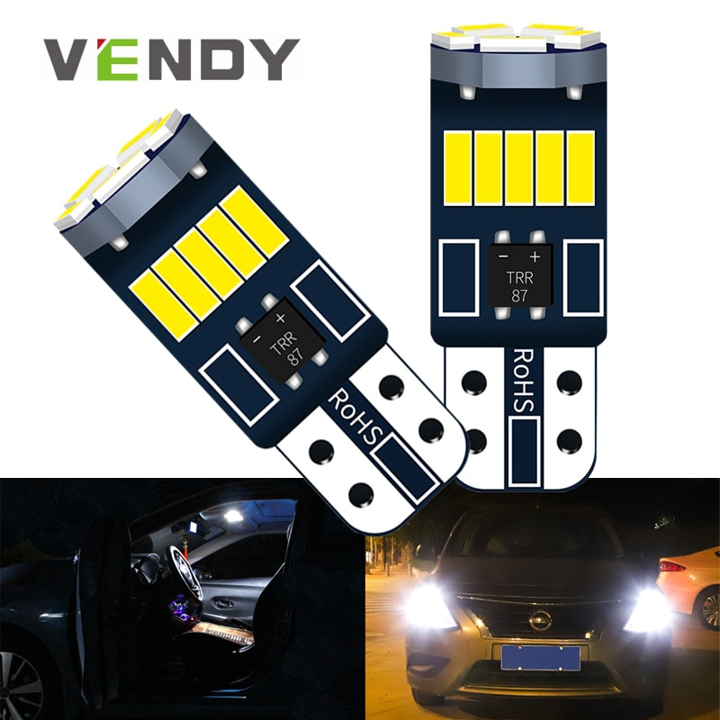 2pcs LED Lights Bulb W5W T10 168 Canbus Car Interior Clearance Lamp Bulb For Skoda Superb Octavia A7 A5 2 Fabia 2 Rapid kodiaq