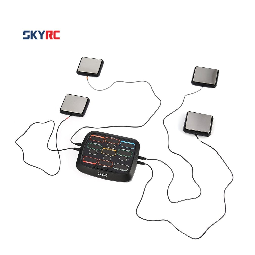 SkyRC esquinero peso RC coche equilibrio sistema de configuración Kit para 1/8 1/10 1/12 RC coche camión Buggy todoterreno SK 500015 RC Accs
