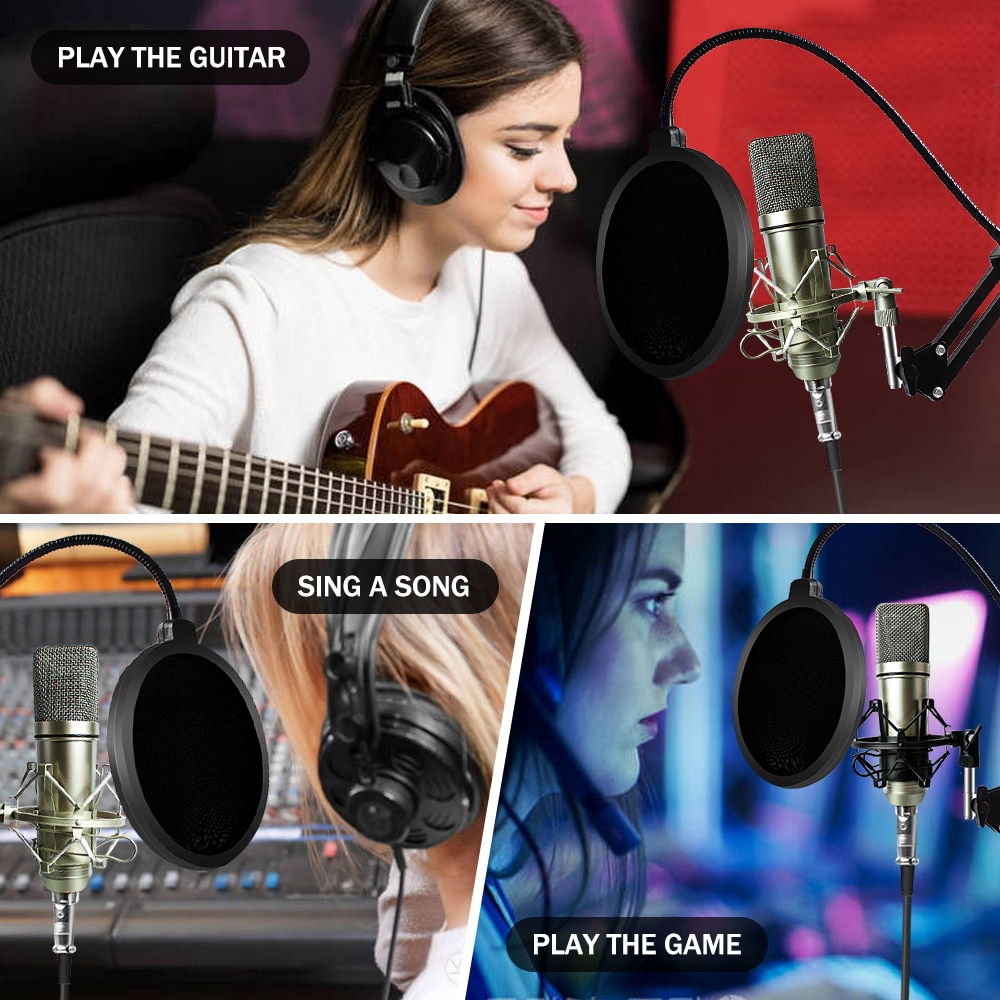 Cardioid Mikrofon Kit Skype Microphone Computer Condenser Mic Studio Microfoon Youtuber Streaming Popcast for Vocal Singer enlarge