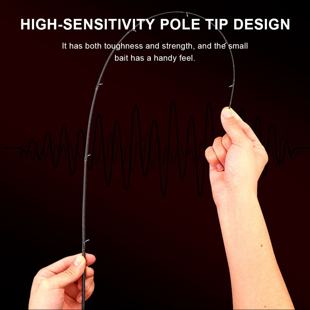 New Portable Fishing Rod Trout Rod 4 Sections Lightweight Travel Rod High Carbon Spinning/Casting Rod Fishing Accessories enlarge