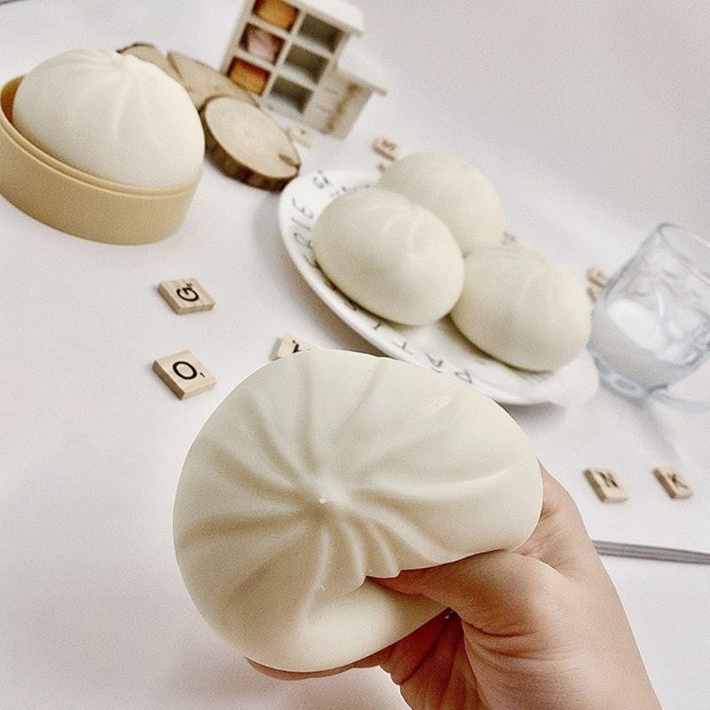 Simulation Steamer Of Steamed Stuffed Bun Decompression Toys Relieve Stress Soft Squeeze Playing Toy enlarge