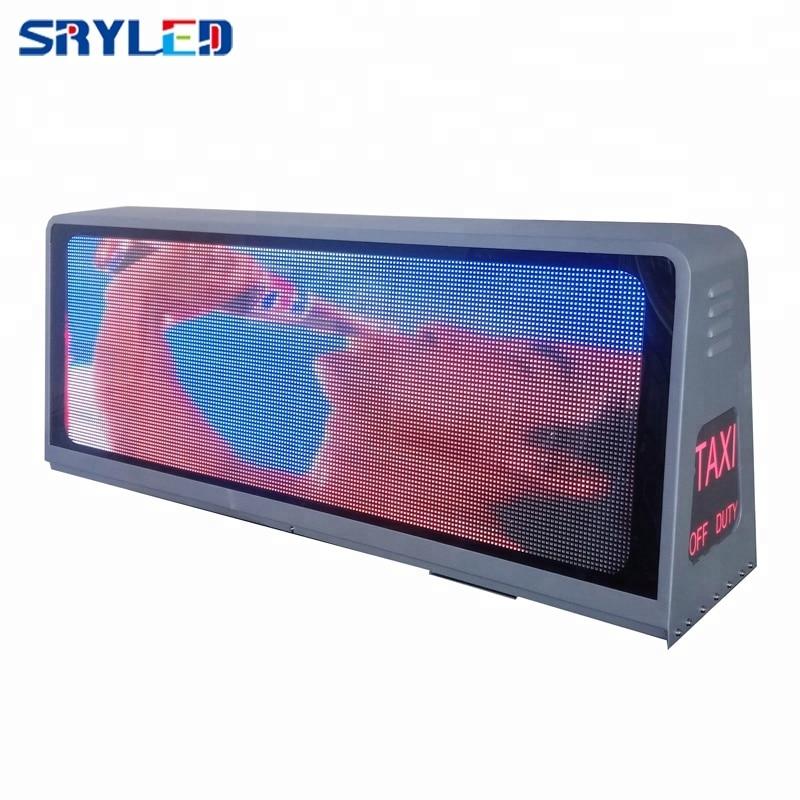 Señal Led Taxi techo superior pantalla Led programable P5 exterior doble cara 960x320mm