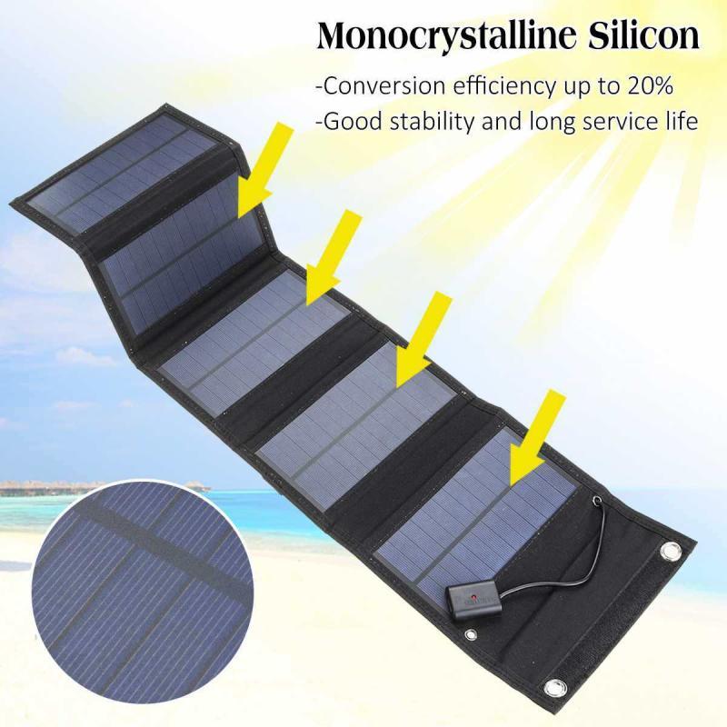 30w/18w 5v dobrável painel solar carregador de energia portátil para o telefone celular acampamento ao ar livre de carregamento de emergência energia solar de carregamento