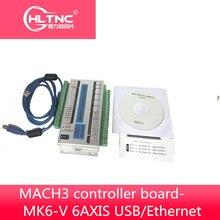 Carte de mouvement MACH3 WHXC MK6-V carte de contrôleur USB/Ethernet 6 axes sortie dimpulsion 2000khz pour machine à CNC