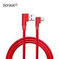 Коленчатый телефонный кабель 2/3 А, кабель передачи данных Type-C, нейлоновая оплетка для Huawei, быстрое зарядное устройство USB, 1/метра