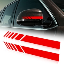 Etiqueta engomada del coche espejo retrovisor lado etiqueta de vinilo para Audi A1 A3 A4 B6 B8 B9 A3 A5 A6 A7 A8 Q2 Q7 Q3 Q5 R8 TT S5 S6 S7 S8