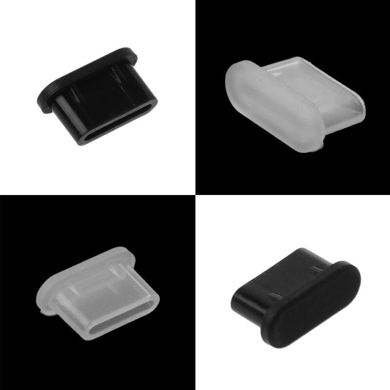 5 шт тип-c пылезащитный usb-порт для зарядки, силиконовый чехол для Samsung, аксессуары для смартфонов-0