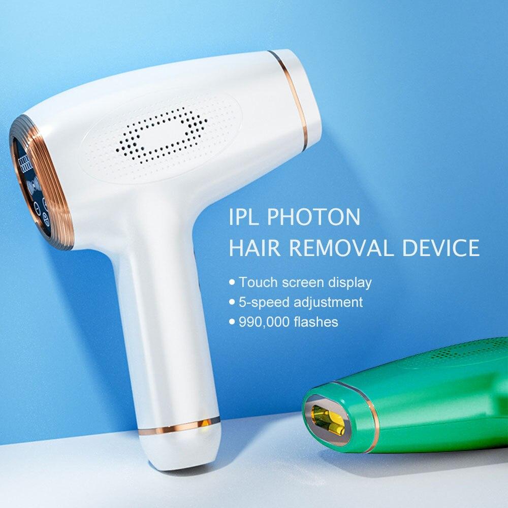 Depiladora láser permanente para mujeres, fotodepiladora IPL, depilación eléctrica indolora, 990000 Flashes,...