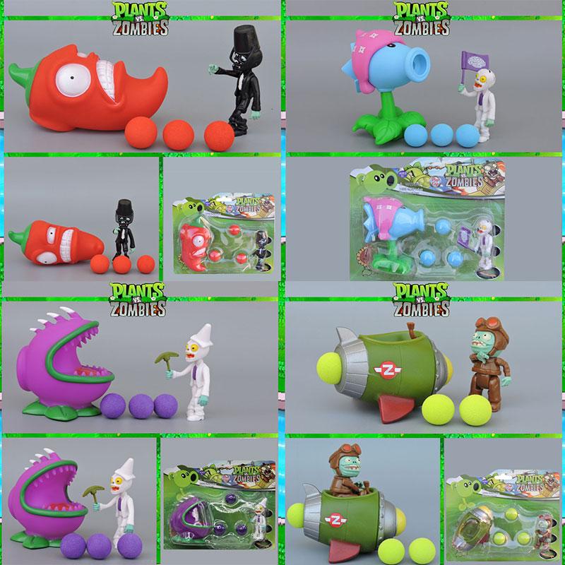 Planta vs Zombie de juguete de 10 niños juguete educativo Muñeca puede tirar verde bala tazón de guisantes tirador de maíz lanzador