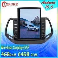 10 4 octa core tesla style vertical screen android 10 car gps video multimedia for jeep compass 2016 2018