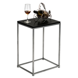 (38.5 x 30 x 53)cm Side Table Sofa Table Artisasset Black MDF Countertops Grey Wrought Iron Base Single Layer Snack Table