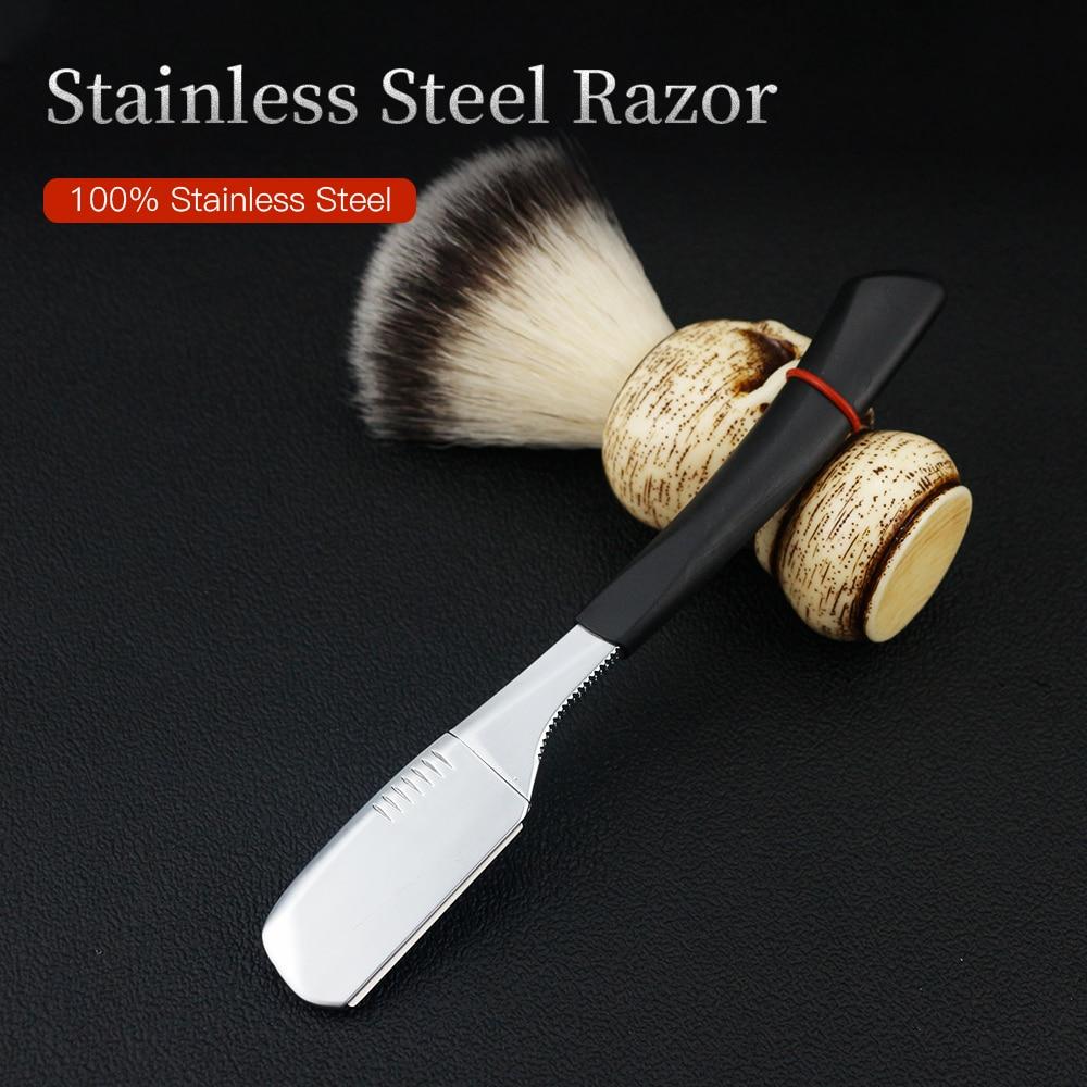maquina de barbear de barbear masculina ferramentas de barbear de cabelo preto dobravel