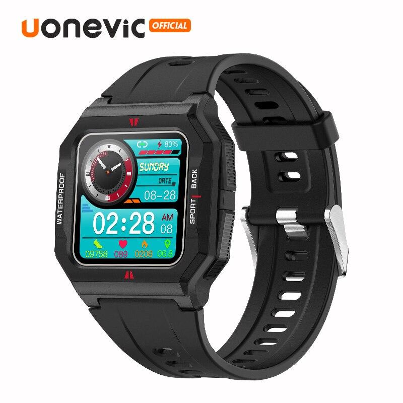 Uonevic P10 ساعة ذكية الرجال اللمس الكامل IP67 مقاوم للماء اللياقة البدنية تعقب Neo Smartwatch FT10 للهاتف شاومي iOS