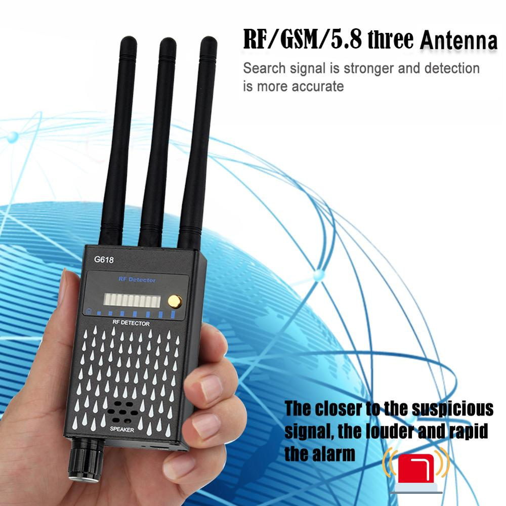 RF Signal Camera Lens Detector Anti Spy Candid Pinhole Camara GPS Locator Wireless Audio GSM Bug Finder Scanner