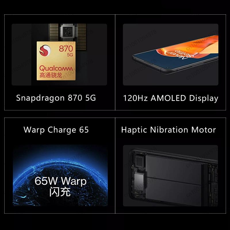Фото1 - Смартфон OnePlus 9R, телефон с глобальной прошивкой, экран 9 R, процессор Snapdragon 870, 8 ГБ, 128 ГБ, экран AMOLED 6,55 дюйма 120 Гц, 65 Вт, Официальный магазин OnePlus ...
